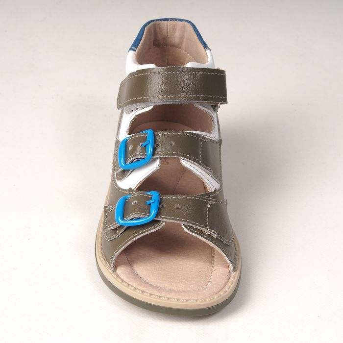 Туфли открытые детские арт. BT 90А-210A.22ВТ (оливк/бел/св.син) (р. 23)