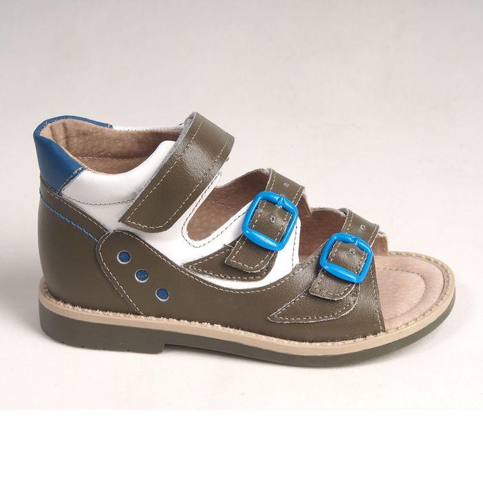 Туфли открытые детские арт. BT 90А-210A.22ВТ (оливк/бел/св.син) (р. 28)