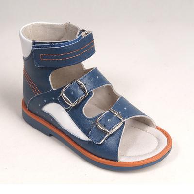 Туфли открытые детские арт. BT 90А-211H.22ВТ (т.син/бел) (р. 24)