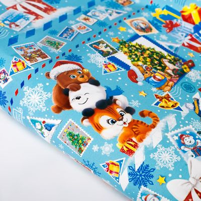 Бумага упаковочная глянцевая «Письмо от Дедушки Мороза», 70 х 100 см