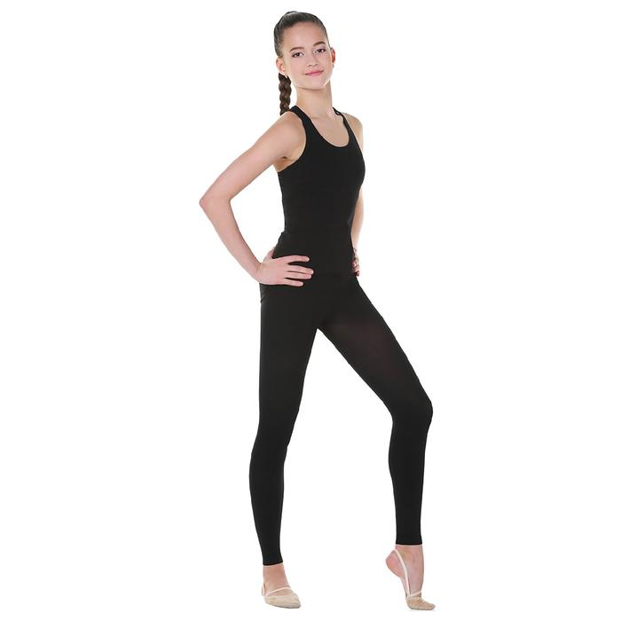 Майка-борцовка гимнастическая, размер 30, цвет чёрный