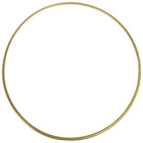 Обруч гимнастический, стальной, d=90 см, стандартный, 900 г, цвет золотой