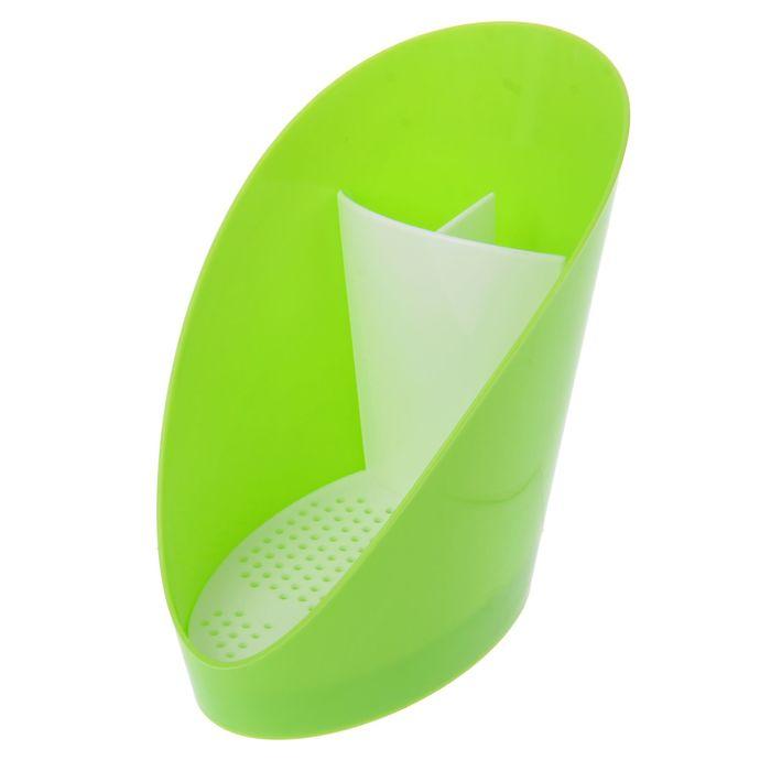 """Подставка для моющих средств """"Изыск"""", цвет зеленый"""