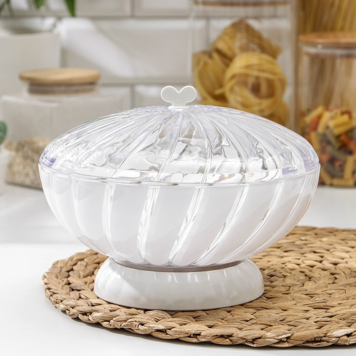 Ваза для хлеба и фруктов «Грация»,1,5 л, цвет белый - фото 1737340