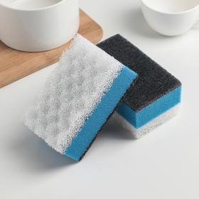 Губка для сантехники 12×7×5.5 см Grifon, 2 шт, цвет МИКС