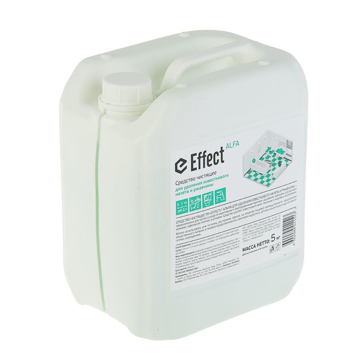 Средство чистящее Effect Альфа для удаления известкового налета и ржавчины, 5 кг
