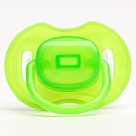 Classic silicone pacifier with cap 0 to 6 months, color green