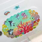 Коврик для ванны Доляна «На дне океана», 33×67 см - фото 105492471