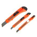 Набор ножей универсальных VOREL, 3 шт, корпус пластик, 9 мм, 18 мм