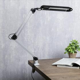 Светильник настольный на струбцине KT008C 1 лампа G23/2G7 11Вт черный