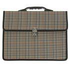 Портфель деловой ткань 350х260х10 мм «Сестрорецк» Гусинная лапка, цвет коричневый