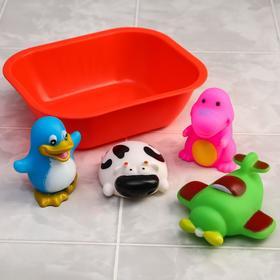 Набор для игры в ванне «Весёлое купание», 5 предметов