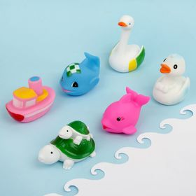 """Toys for tubs """"Fun to play"""", 6 PCs."""