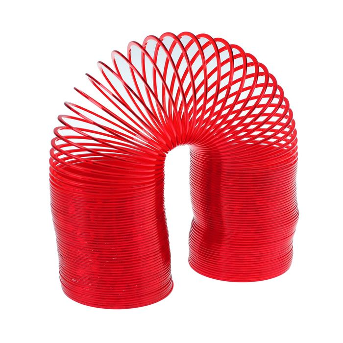 Пружинка-радуга «Блеск», цвет красный