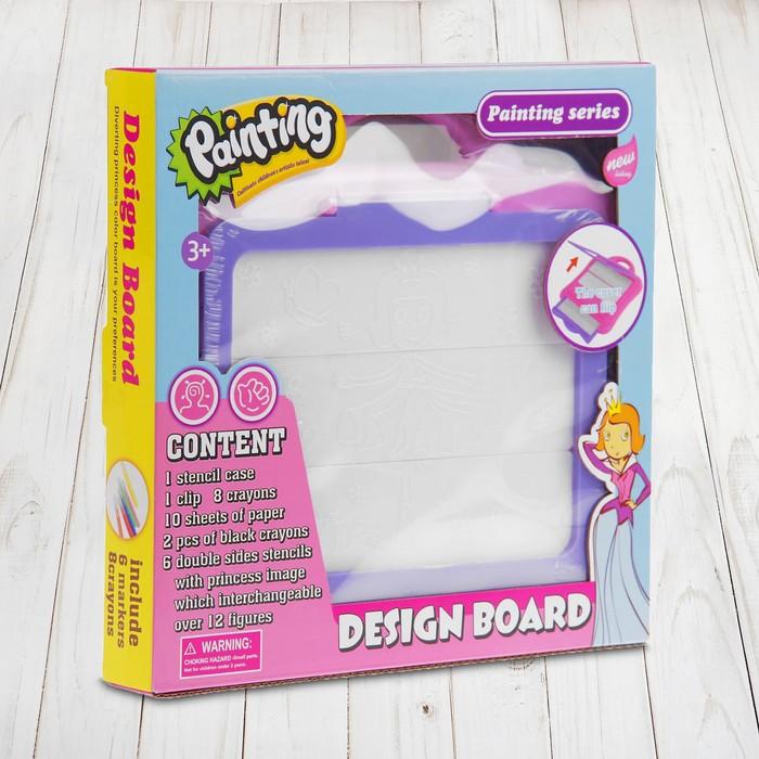 """Доска для рисования """"Нарисуй свою принцессу"""" - фото 976614"""