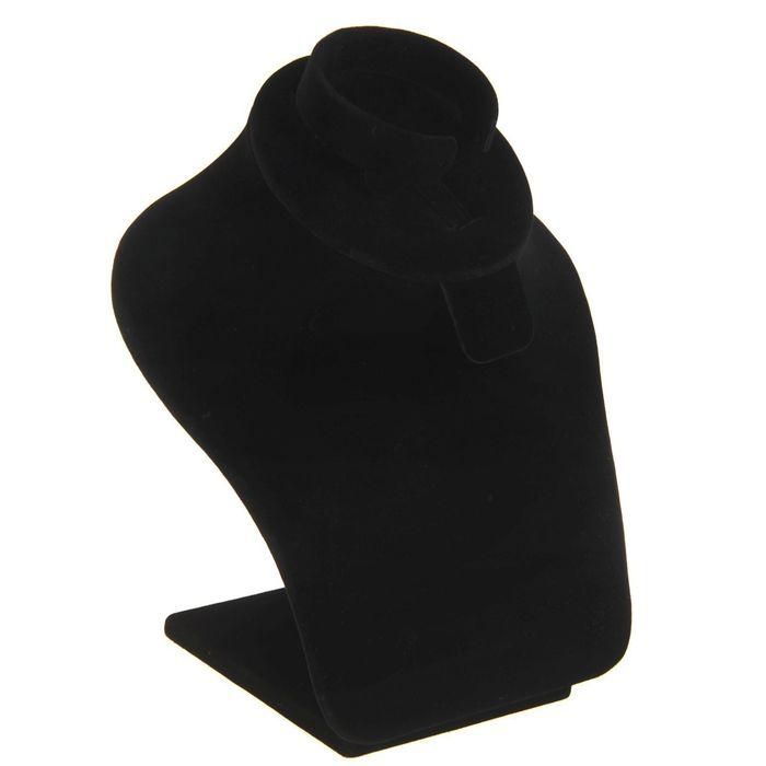 Бюст для украшений 18*18*17, цвет чёрный