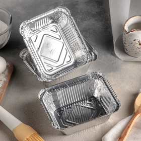 Set the baking dish with foil and 490 ml, 3 PCs