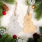 "Набор подвесок ""Новогодний снеговик"", 2 шт."