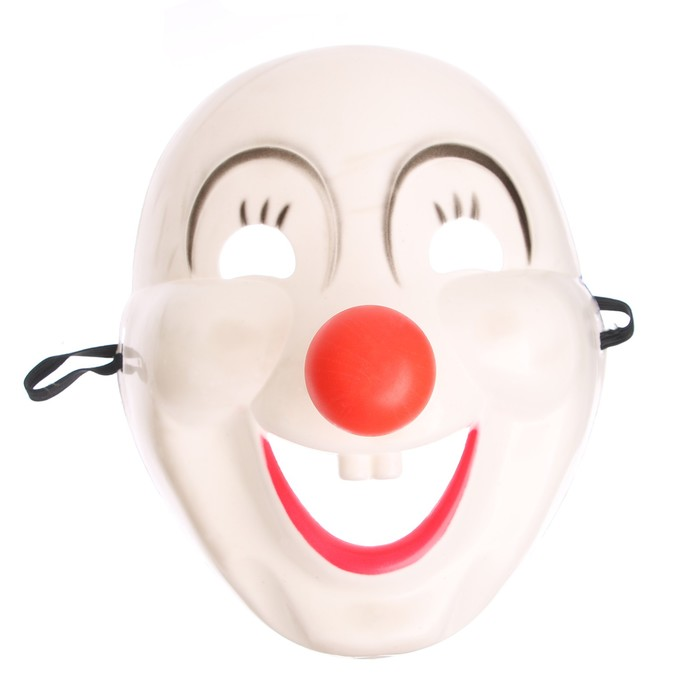 """Carnival mask """"Clown"""" with a red nose"""