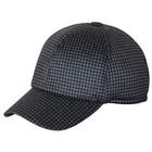Бейсболка, размер 59-60, цвет чёрный/серый, клетка, 156.356.552
