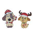 """Новогодний набор подвесок """"Собачка с леденцом и Собачка с варежками"""""""