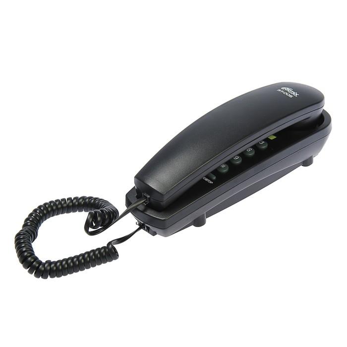 Проводной телефон Ritmix RT-005, настольно-настенный, Hi-Low, отключ. микрофона, черный