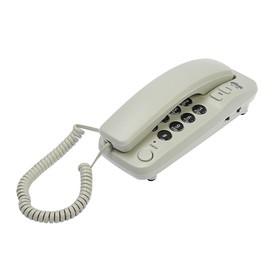 Проводной телефон Ritmix RT-100, настольно-настенный, Hi-Low, световой индикацией, серый Ош
