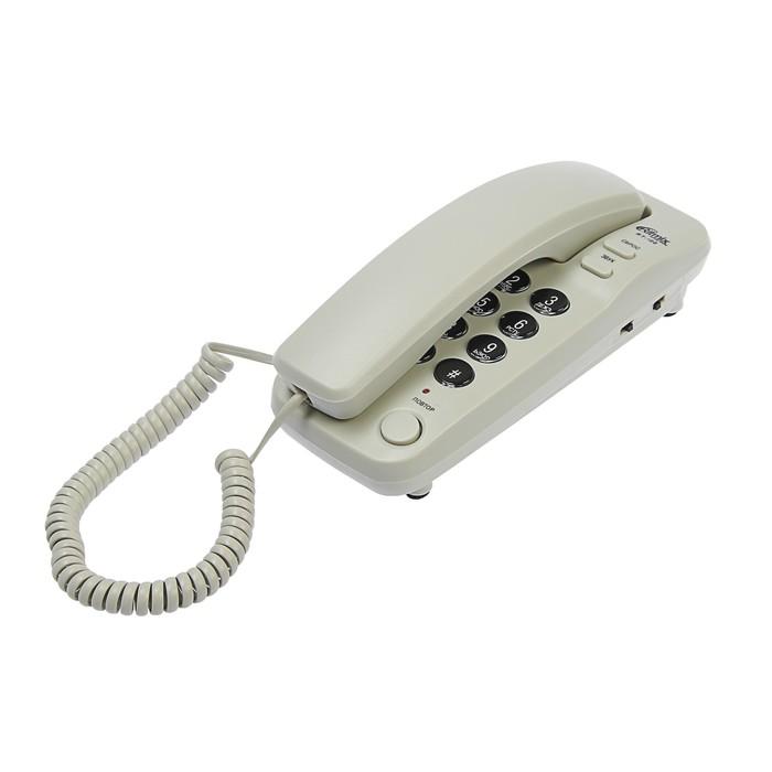 Проводной телефон Ritmix RT-100, настольно-настенный, Hi-Low, световой индикацией, серый