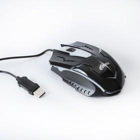 Мышь Ritmix ROM-311, игровая, проводная, оптическая, 2400 dpi, подсветка, USB, черная