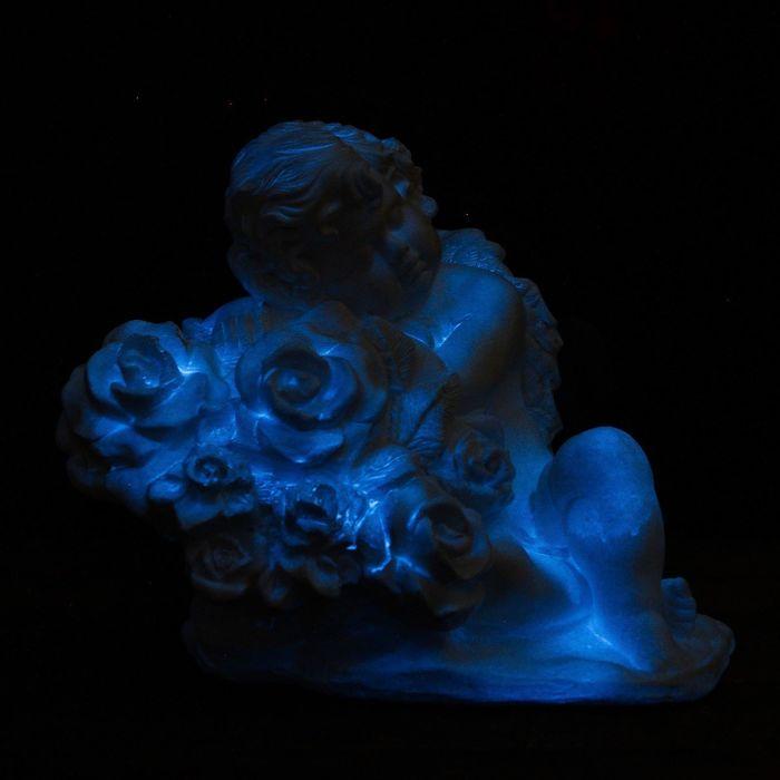 """Светящаяся фигура """"Ангел на розах"""" 29см"""