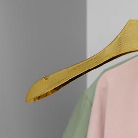 Вешалка-плечики для одежды, размер 42-44, цвет золотой - фото 4642551