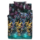 "КПБ 1,5 ""Transformers"" Neon Оптимус Прайм и Бамблби 143*215 150*214 70*70 1шт поплин 103 г/м"