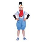 """Карнавальный костюм """"Снеговик с чёрным ведром"""", комбинезон, шапка, шарф, р-р 28, рост 98-104 см"""