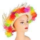 """Шляпа гавайская """"Яркие цветы"""" с выемкой"""
