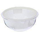 Набор для кухни 2 предмета: миска, дуршлаг 0,67 л, прозрачный