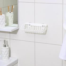 {{photo.Alt || photo.Description || 'Подставка для губки и мыла на присосках, 21×11×5 см, цвет белый'}}