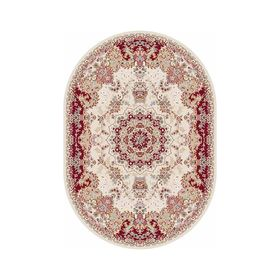 Овальный ковёр Shahreza d211, 80 х 140 см, цвет cream-red