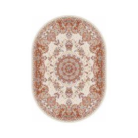 Овальный ковёр Shahreza d211, 80 х 140 см, цвет cream-terra