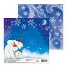 Бумага для скрапбукинга «Снежная ночь», 15,5 × 15,5 см
