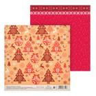 Бумага для скрапбукинга «Ретро Новый год», 15,5 × 15,5 см
