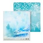 Бумага для скрапбукинга «Кружит снежок», 15,5 × 15,5 см