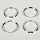 Алюминиевое центровочное кольцо, диаметр наружный 67,1 мм, внутренний 64,1 мм, набор 4 шт.
