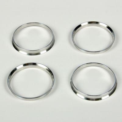 Алюминиевое центровочное кольцо, диаметр наружний 67,1 мм, внутренний 64,1 мм, набор 4 шт.