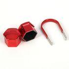Пластиковые колпачки, 17 мм, со съемником, красные, набор 20 шт.