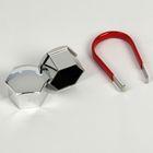 Пластиковые колпачки, 19 мм, со съемником, хром, набор 20 шт.
