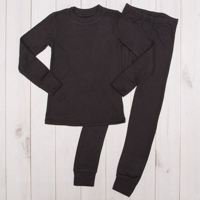 Комплект для мальчика (джемпер+брюки), рост 128 см, цвет чёрный М807
