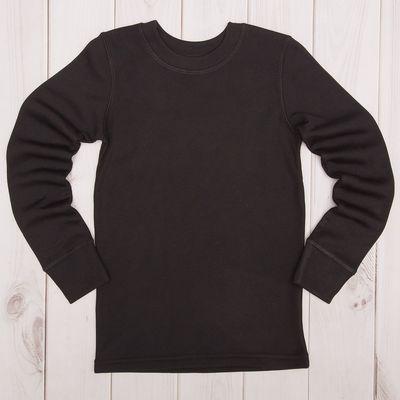Лонгслив для мальчика, рост 146 см, цвет чёрный М810