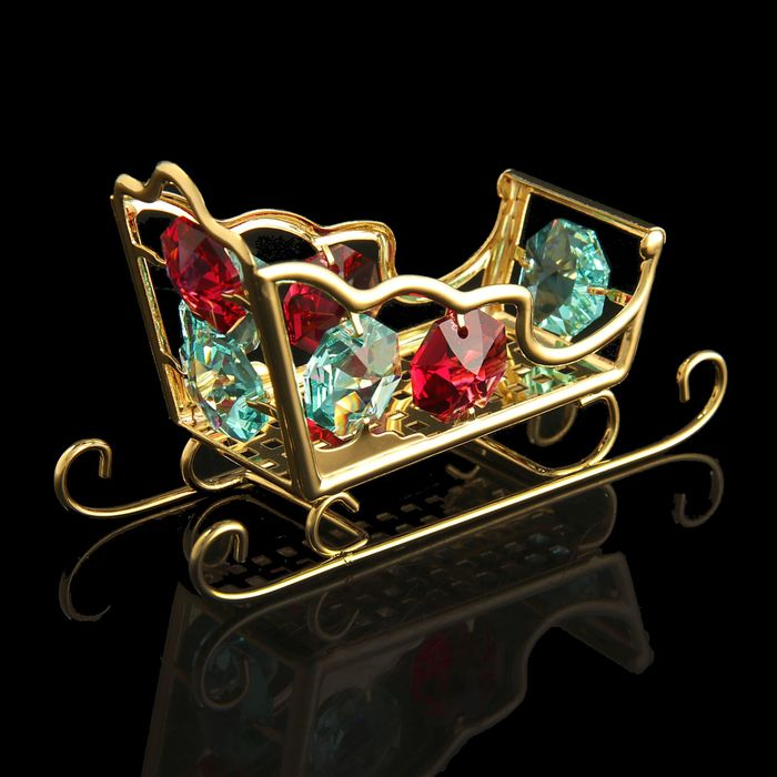 Сувенир «Салазки», с кристаллами Сваровски