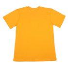 Футболка однотонная мужская цвет желтый, р-р 46 (S)