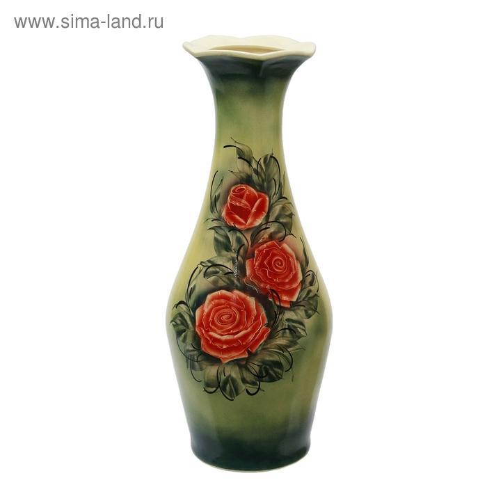 """Ваза напольная """"Ромашка"""" роза, салатовая"""